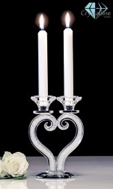 candle holder-crystal-Heart