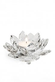candle holder-crystal-Lotus