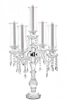 GLORIA (H80 cm) Floor/table candelabra, candle holder 5-arms