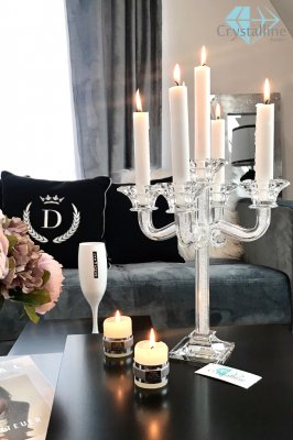 candelabra-candle holder-crystal-Shimmery